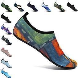 VIFUUR Men Women Water Shoes Barefoot Skin Shoes Run Dive Su