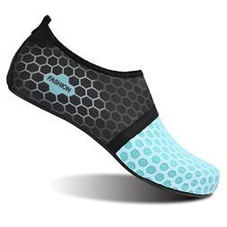 L-RUN Men Women Quick-Dry Water Sports Shoes Blue_Black L M