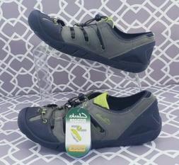 CLARKS Water Shoes Men's Size 9.5 M NuBuck Leather & Textile