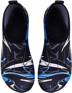 VIFUUR Water Sports Shoes Barefoot Quick-Dry Aqua Yoga, Graf