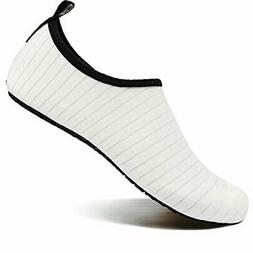 VIFUUR Water Sports Unisex/Kids Shoes White - 9-10 W US / 7.