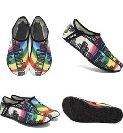Water Sports Shoes Barefoot Quick-Dry Slip-on Men Women 12.5