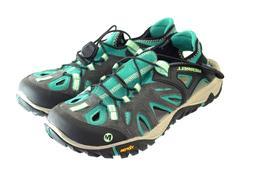 Women's MERRELL ALL OUT BLAZE SIEVE Sz 9 Bright Green Hiking