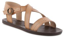 Blowfish Women's Drum Flat Sandal, Nude Dyecut Pu, 7 M US