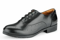 women s kora black leather slip resistant