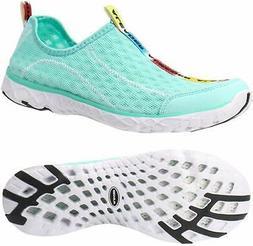 ALEADER Women's Mesh Slip On Water Shoes, New Mint, Size 8.0