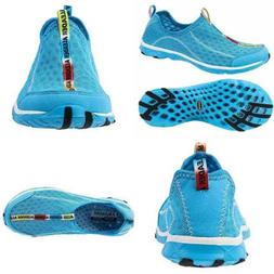 Aleader Women's Mesh Slip On Water Shoes BLUE 9.5