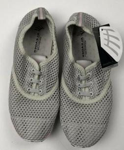 ALEADER Women's Quick Drying Aqua Water Shoes Net Gray Size
