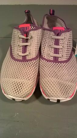 Aleader Women's Quick Drying Aqua Water Shoes Grey Mesh Size