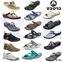 CROCS women's sandals flip flops wedges shoes ultra light wa