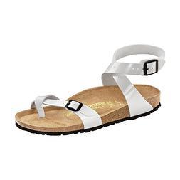 Birkenstock Women's Yara Sandal Bright White Patent Birko-Fl