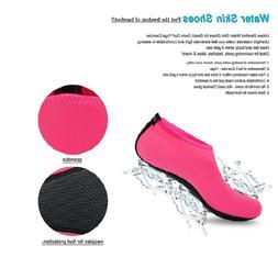Womens Barefoot Water Skin Shoes Aqua Socks for Beach Swim S