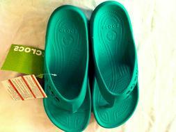Women's Crocs Baya Flip Flop Sandals Teal Beach Or Water S
