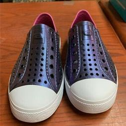 Skechers Womens Cali Gear Water Shoes Purple Pink Perforated