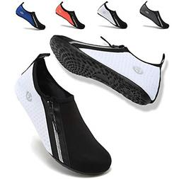 VIFUUR Womens Mens Water Shoes Adjustable Aqua Socks for Out