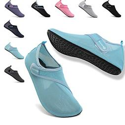 VIFUUR Womens Mens Water Shoes Adjustable Mesh Aqua Socks fo