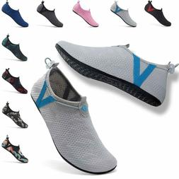 womens mens water shoes adjustable mesh aqua