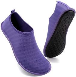 Vifuur Womens Mens Water Shoes Athletic Aqua Shoes Slip-On F