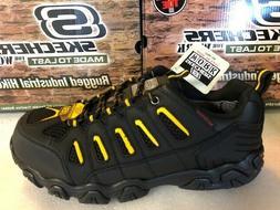 Skechers for Work Men's Blais Steel-Toe Hiking Shoe 7705 Bla