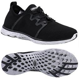 ALEADER Men's Xdrain Venture Aqua Water Shoes Black/Gray 12
