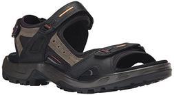 ECCO Men's Yucatan Sandal,Black/Mole/Black,42 EU