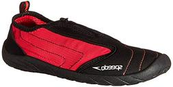 Speedo Womens Zipwalker 4.0 Water Shoe, Black/Pink, 5 M US