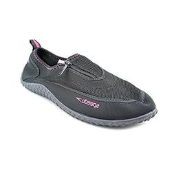 Speedo Womens ZipWalker Water Shoe - Size 10 Pink/Black